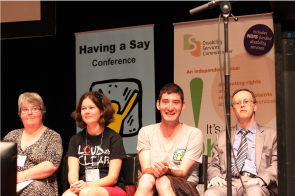 Loud and Clear members at the Having a Say conference